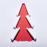 Gescheurde document Kerstboom Stock Foto