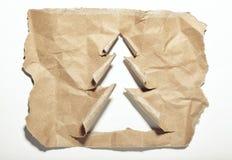 Gescheurde document Kerstboom Stock Foto's