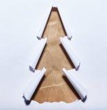 Gescheurde document Kerstboom Royalty-vrije Stock Afbeeldingen