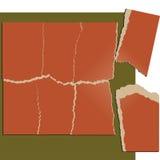 Gescheurde document raadselreeks vector illustratie