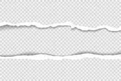 Gescheurde document randen, naadloze die horizontaal textuur Als achtergrond, vector in ruimte voor reclame, banner wordt geïsole Royalty-vrije Stock Foto