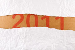 Gescheurde document strookreeks - nieuw jaarconcept Stock Afbeelding