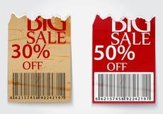 Gescheurde etiketten voor bedrijfsontwerpachtergrond Royalty-vrije Stock Afbeelding