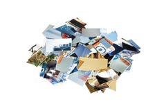 Gescheurde fotobeelden Stock Foto's