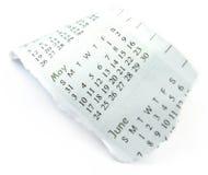 Gescheurde kalender Stock Afbeeldingen