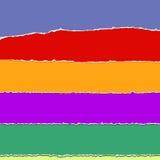 Gescheurde kleurendocument stroken Royalty-vrije Stock Foto's