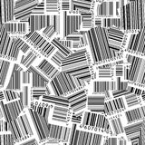 Gescheurde streepjescodes (naadloos vectorbehang) Stock Afbeeldingen