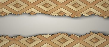 Gescheurde uitstekende houten vloer vector illustratie