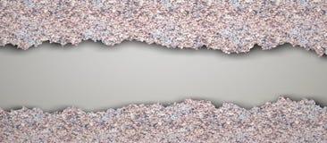 Gescheurde uitstekende tegelvloer vector illustratie