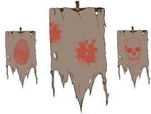 Gescheurde vlaggen Stock Foto