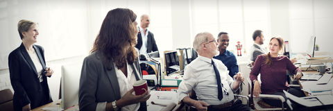 Geschäft, das Team Discussion Planning Concept vermarktet Lizenzfreie Stockfotografie