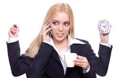 Geschäft der jungen Frau Lizenzfreie Stockfotos