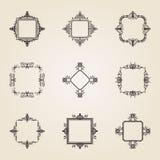 Geschäft Flourishzeichen und klassische Grenze des Logos Stockfoto