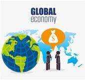 Geschäft, Geld und globale Wirtschaft Stockfotografie