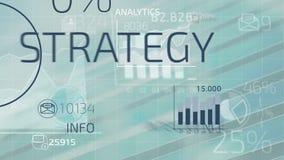 Geschäft Infographics stock footage