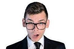 Geschäft mansurpised Gesicht Lizenzfreies Stockbild