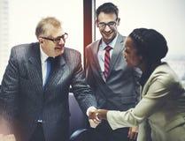 Geschäft Peope-Händedruck-Gruß-Abkommen-Konzept Stockfotos