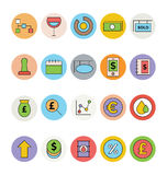 Geschäft und Büro farbige Vektor-Ikonen 11 Stockfoto
