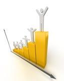 Geschäfts-Diagramm Lizenzfreie Stockfotos