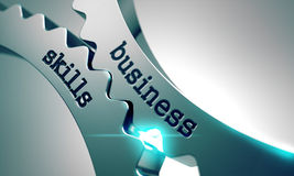 Geschäfts-Fähigkeiten auf Metallgängen Lizenzfreies Stockfoto