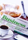 Geschäfts-Frühstück Lizenzfreie Stockbilder