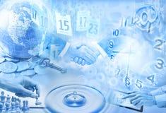 Geschäfts-Montage-Marketing-Hintergrund Stockfotografie