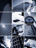 Geschäfts-Rasterfeld - Zeit ist Geld Lizenzfreie Stockfotos