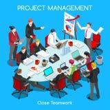 Geschäfts-Raum01 menschen isometrisch Lizenzfreie Stockfotos