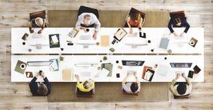 Geschäfts-Team Meeting Connection Digital Technology-Konzept Stockfoto