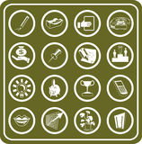 Geschäfts-und Büro-Ikonen Lizenzfreie Stockbilder