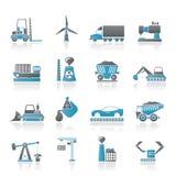 Geschäfts- und Industrieikonen Lizenzfreies Stockbild