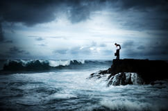 Geschäfts-Verzweiflungs-denkendes Krisen-Planungs-Konzept Stockbild