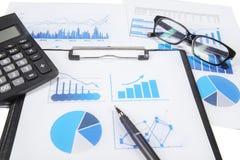 Geschäftsfinanzforschung Lizenzfreies Stockbild