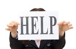 Geschäftsfrau benötigt Hilfe Stockbilder