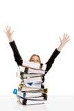 Geschäftsfrau überbelastet Lizenzfreies Stockfoto