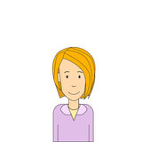 Geschäftsfrau-Blond Pretty Portrait lokalisierte Geschäftsfrau Lizenzfreie Stockfotos