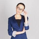 Geschäftsfrau in den Gläsern Lizenzfreies Stockbild