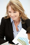 Geschäftsfrau in der Sitzung Stockbilder