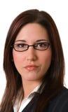 Geschäftsfrau ernstes headshot Stockfotografie