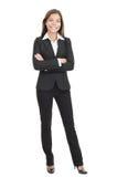 Geschäftsfrau getrennt auf weißem Hintergrund Stockbild