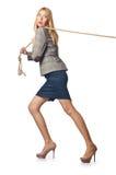 Geschäftsfrau im Schlepper Lizenzfreie Stockbilder