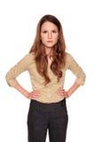 Geschäftsfrau - Nullausdruck Lizenzfreie Stockfotografie