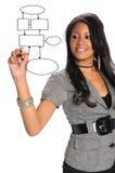 Geschäftsfrau-Schreiben Lizenzfreies Stockfoto