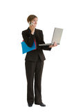 Geschäftsfrau-Serie - Projec Lizenzfreie Stockfotografie