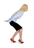 Geschäftsfrau tragen Lizenzfreie Stockbilder
