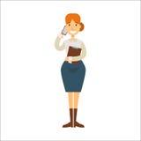 Geschäftsfrau-Vektorcharakter Stockbilder