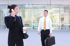 Geschäftsfrau-Wartepartner Lizenzfreies Stockfoto