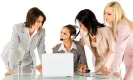 Geschäftsfrauarbeiten Stockbild