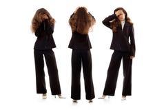 Geschäftsfrauen, die negative Gefühle ausdrücken Stockbilder