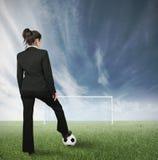 Geschäftsfrauherausforderung Stockbilder